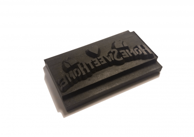 Prototyped Rubber Stamp