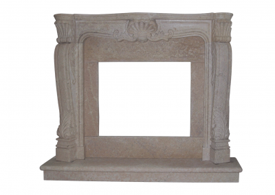 Stone Fireplace Ornamented