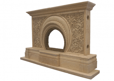 3D Ornaments on Fireplace